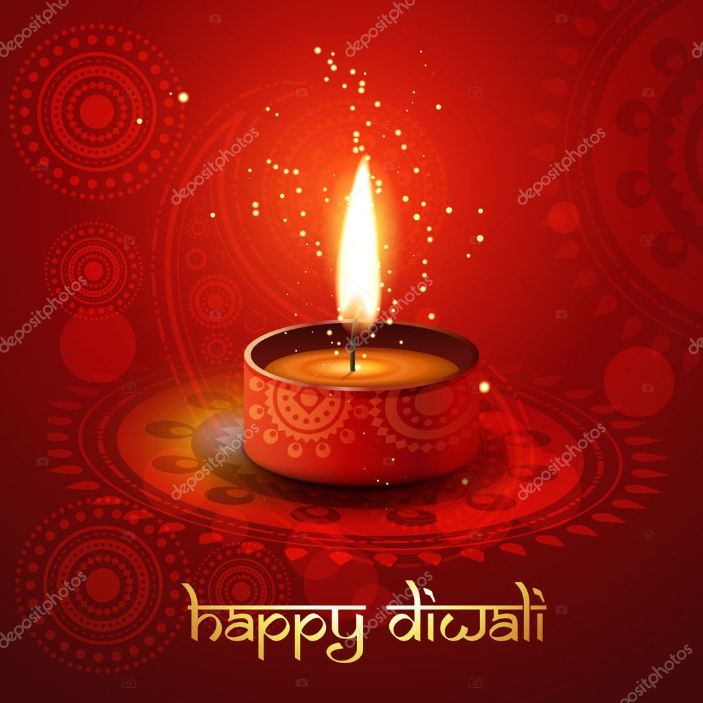 Diwali diya - Stock Illustration