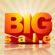 Big sale vector — Stock Vector