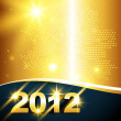 Stock Vector: Golden new year background