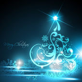 Glowing christmas tree — Stock Vector
