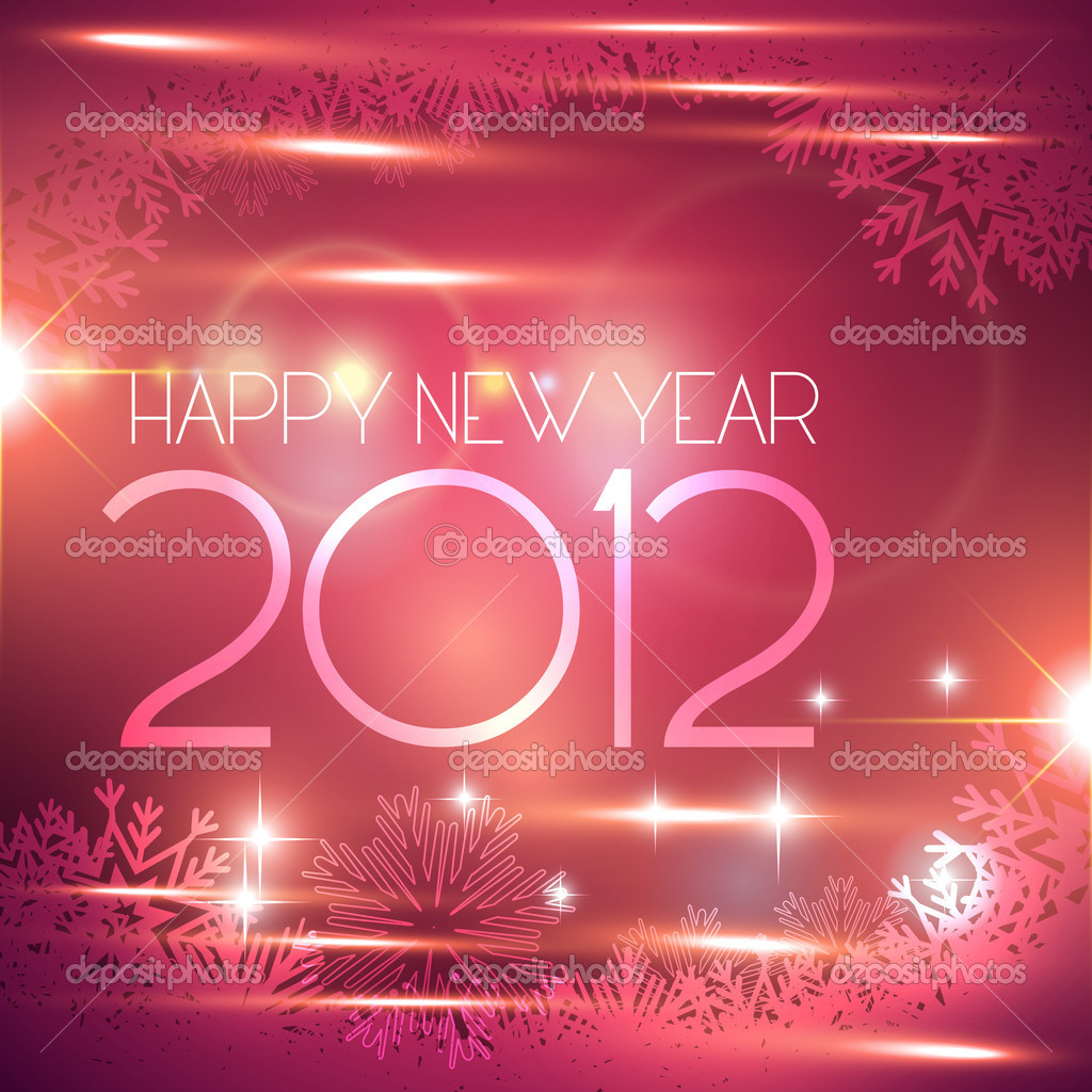 Beautiful shiny happy new year vector background — Stock Vector #7640731