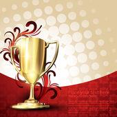Gouden trofee — Stockvector