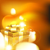 Shiny gift box — Stock Vector