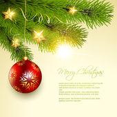 Christmas background tree — Stock Vector