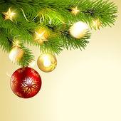 Shiny christmas ball — Stock Vector