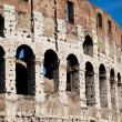 Colosseum with blue sky — Stock Photo #6839534