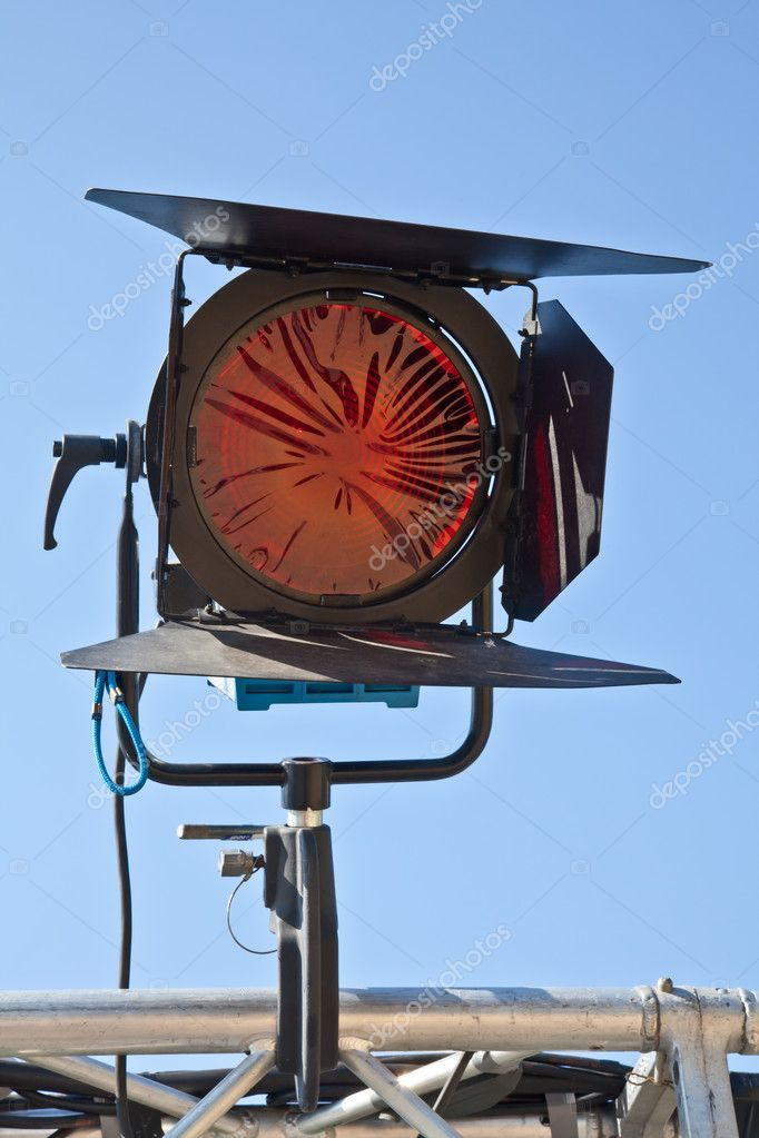Reflector in an outdoor theater with blue sky background — Stock Photo #7297753