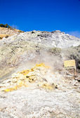 Solfatara - volcanic crater — Stock Photo