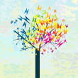 Royalty-Free Stock Photo: Stylized tree with butterflies