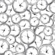 Stock Photo: Seamless pattern with clocks and time