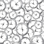 Seamless pattern with clocks and time — Stock Photo