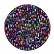 Circle full of colored — Stock Photo