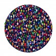 Circle full of colored — Stock Photo #7588410