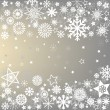 Stock Photo: Winter frame with snowflakes