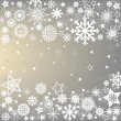 Winter frame with snowflakes — Stock Photo #7588420