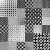 Set of black and white geometrical patterns — Stock Photo