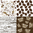 Stock Photo: Set of backgrounds with coffee beans