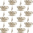 Backround pattern with cofe cups — Stock Photo #7910239