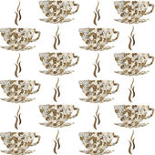 Backround pattern with cofe cups — Stock Photo