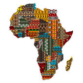 Africa map with countries made of ethnic textures — Stock Photo