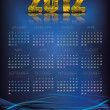 2012 Calendar Abstract — Stock Vector