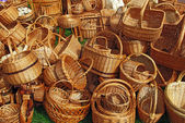 A lot of baskets — Stock Photo