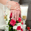 Hands with rings — Stock Photo