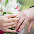 Hands with rings — Stock Photo #7399780