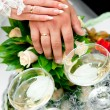 Royalty-Free Stock Photo: Hands of the groom and the bride