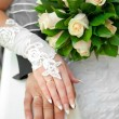 Hands of the groom and the bride — Stock Photo #7839217