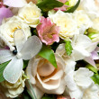 Fine bouquet of the bride on wedding - Stock Photo