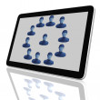 Social Network Group of Tablet Computers - Zdjcie stockowe