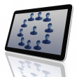 Social Network Group of Tablet Computers - Stok fotoraf
