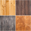 Set of wooden textures — Stock Photo
