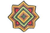 Hand made crocheted doily — Stock Photo
