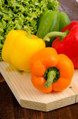 Peppers and lettuce — Stock Photo
