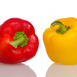 Two fresh peppers — Stock Photo