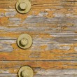 Stock Photo: Wooden texture with bolts