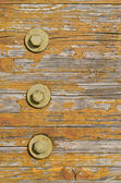 Wooden texture with bolts — Stock Photo