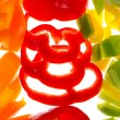 Slice Bell Pepper slices — Stock Photo