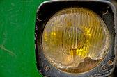 Luz dianteira trator vintage — Foto Stock