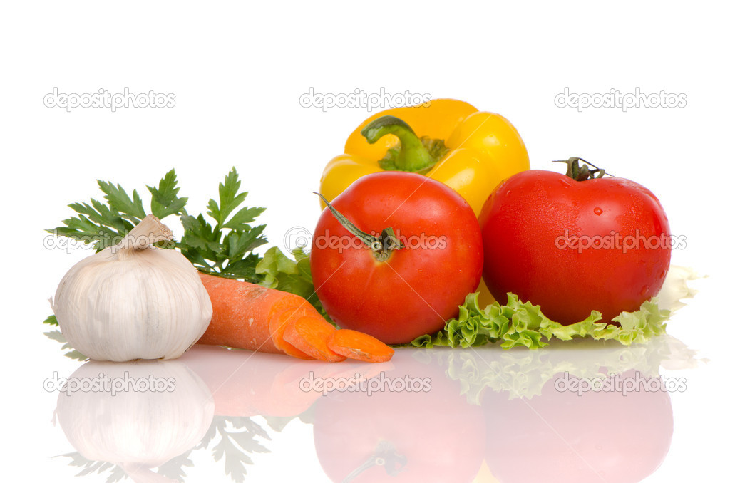 Health food vegetables isolated on a white background. — Stock Photo #7093595