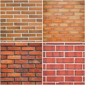 Red brick textures — Foto Stock
