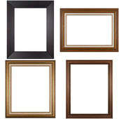 Four antique picture frames — Stock Photo