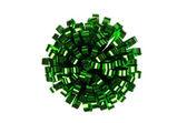Förpackning grön rosett — Stockfoto