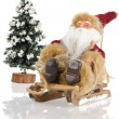 Miniature of Santa Claus on sleigh — Stock Photo