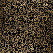 Stock Photo: Golden abstract arabesque