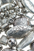 Silver beads — Stock Photo