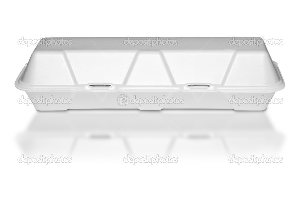 A white polystyrene food container  — Stock Photo #6839187