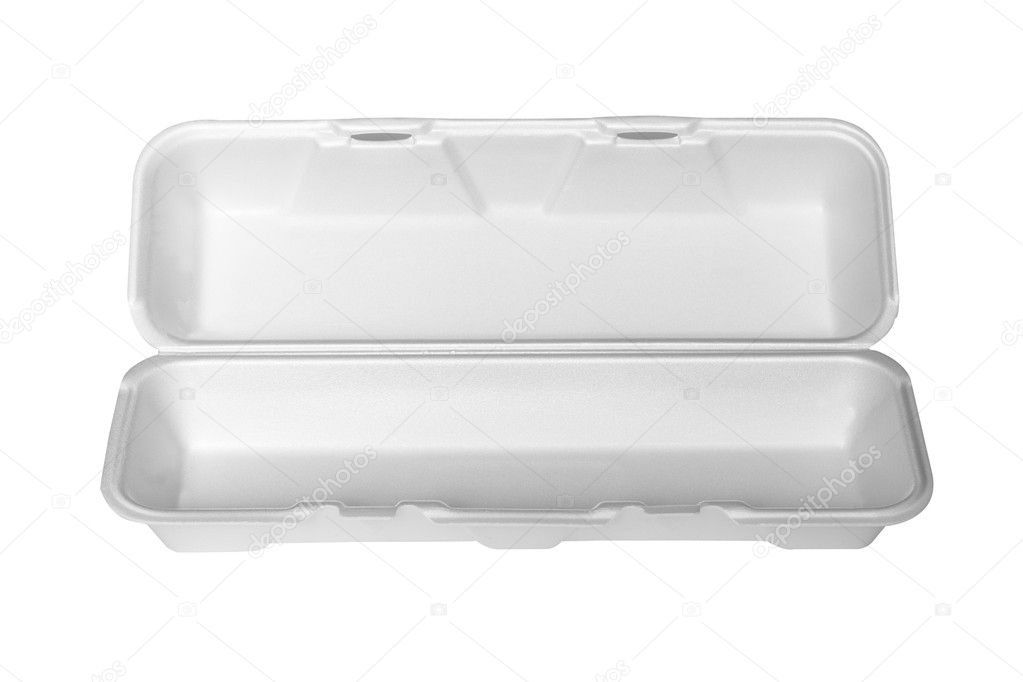 A white polystyrene food container  — Stock Photo #6839213